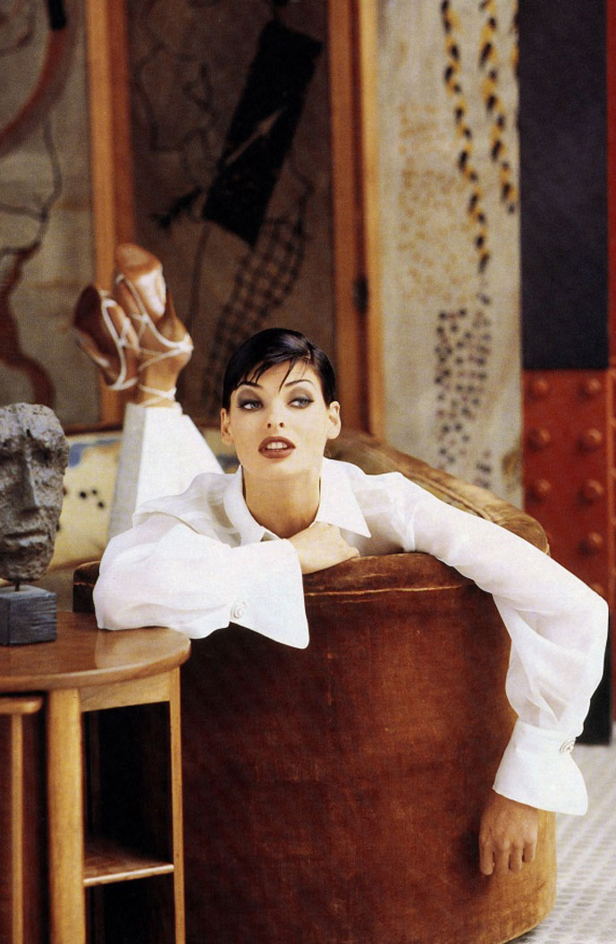 Linda Evangelista photographed by Steven Meisel for Gianfranco Ferre Spring/Summer & Fall/Winter 1992 campaigns