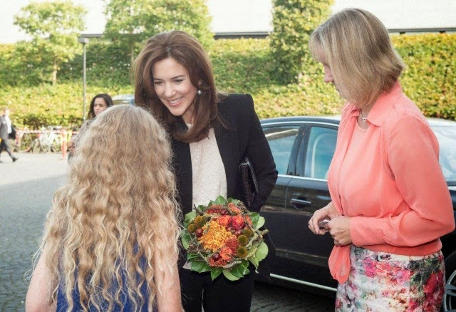 "Crown Princess Mary opens the international conference ""Child in the City"" at the University of Southern Denmark. She is accompanied by her lady-in-waiting, Tanja Elise Kjaersgaard Doky in Odense"