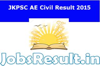 JKPSC AE Civil Result 2015