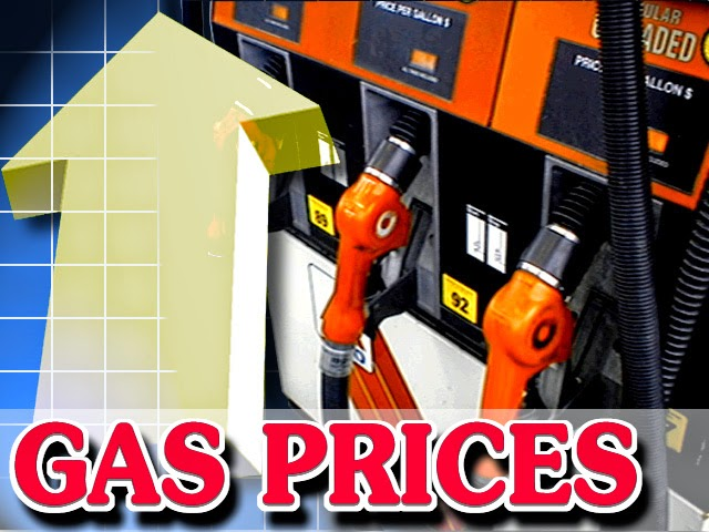 Image of gas prices at the pump