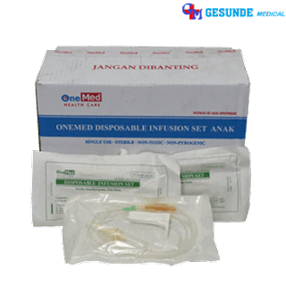selang infus disposable infusion set anak