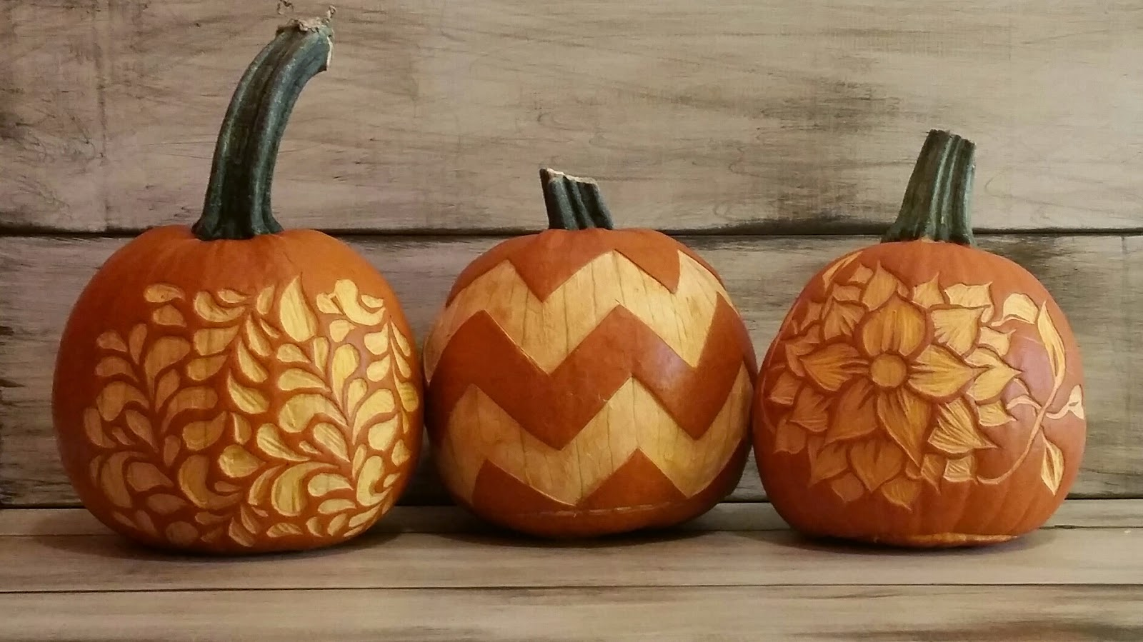 Diy vintage chic pumpkin carving