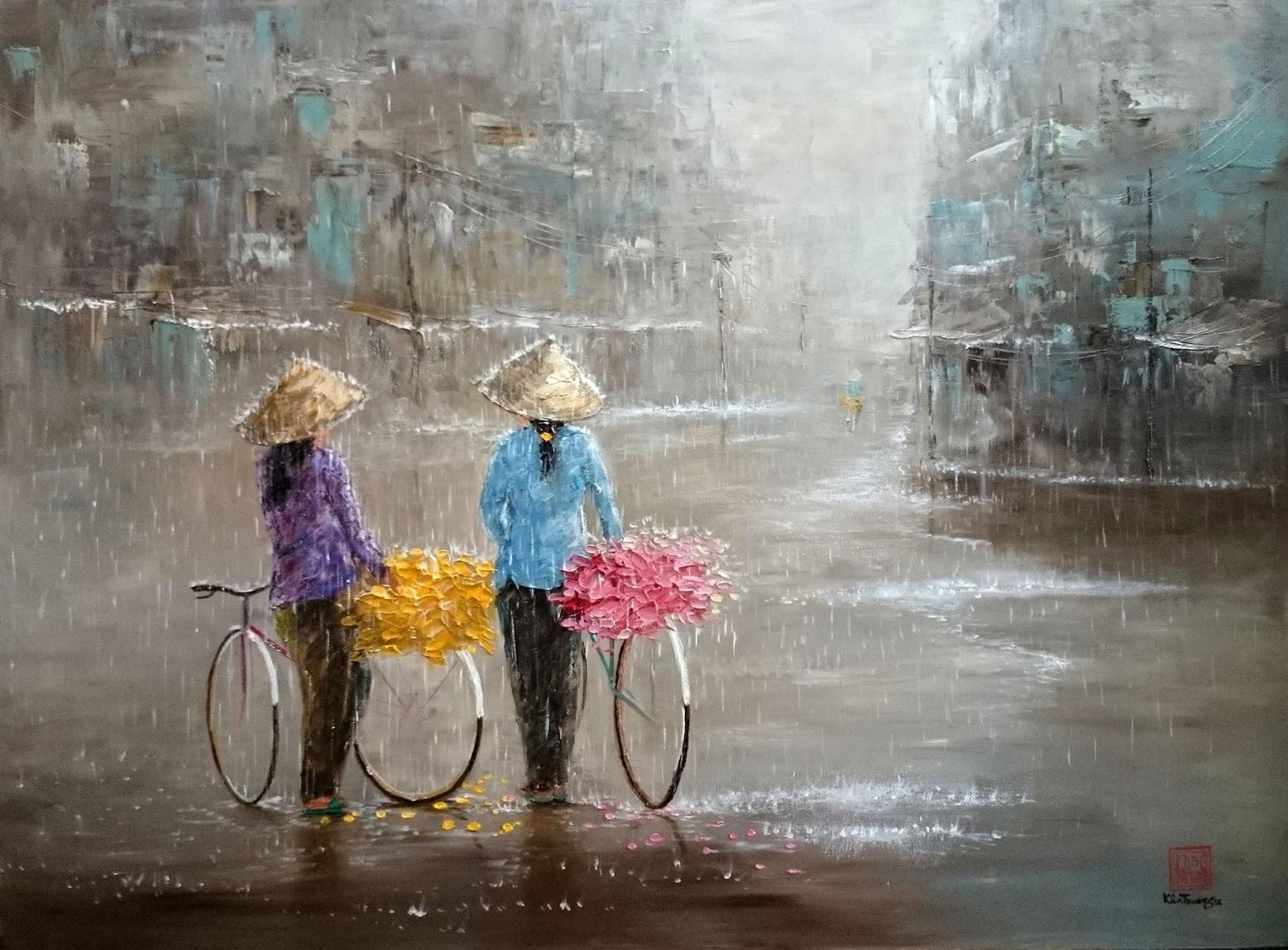 Kha Trung cultural abstract painting