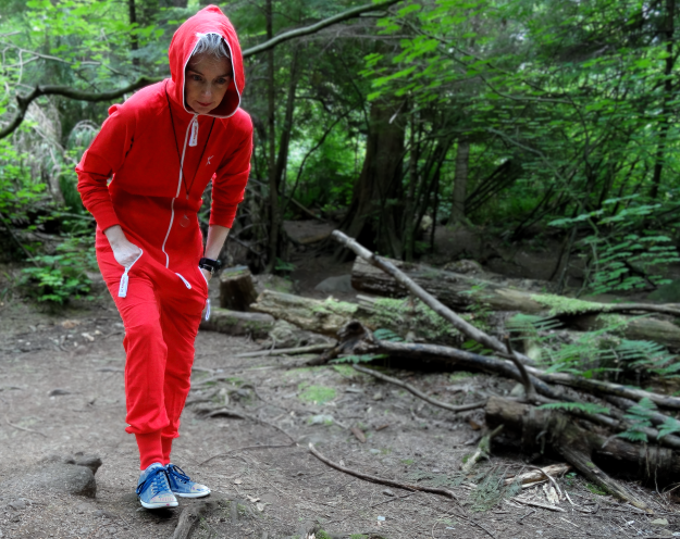 Mel Kobayashi, Onesie in the Woods, scary