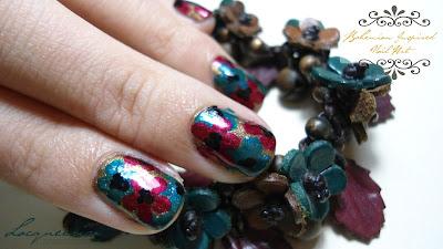 Bohemian Inspired Nail Art