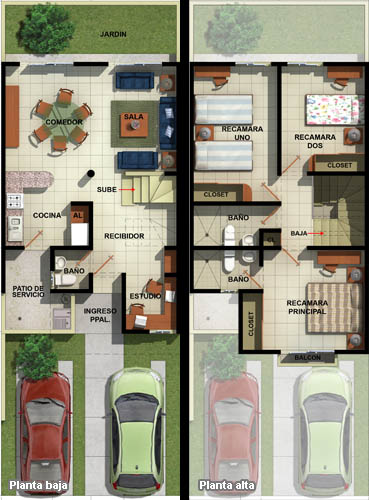 Casas en venta y departamentos casa muestra modelo sabal for Software para planos de casas