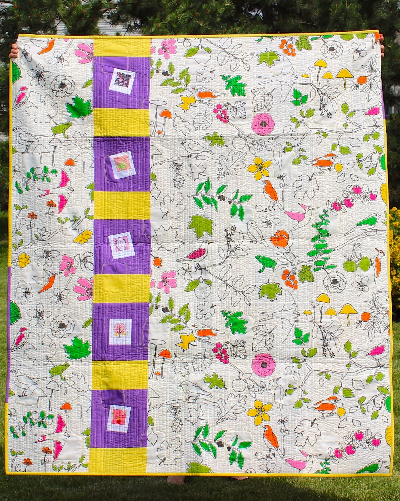 Polaroid Quilt Back