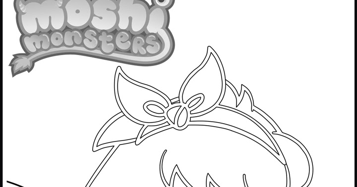 Poppet moshi monsters coloring pages