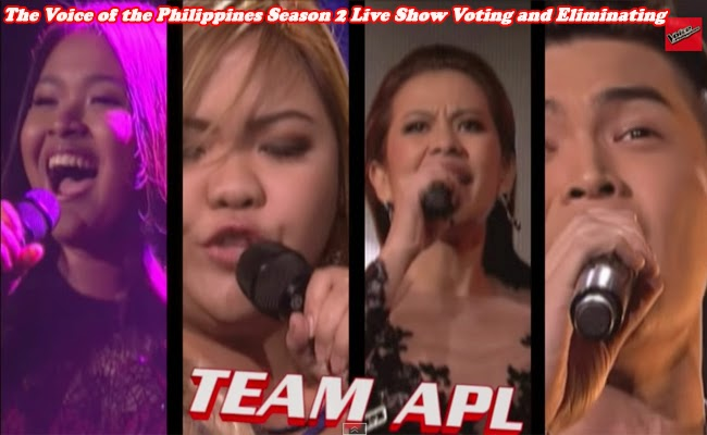 The Voice of the Philippines Season 2 Live Show Voting and Eliminating Team Apl February 7, 2015