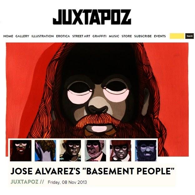 José Álvarez, Basement People, Juxtapoz Magazine, Ilustración, Illustration, Atelier des Jeunes