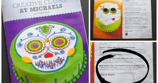 Mommy maestra decorate your own day of the dead cake for Michaels craft store cake decorating classes
