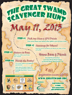 The 2013 Great Swamp Scavenger Hunt, May 11, 2013. Go to GreatSwamp.org for more information.