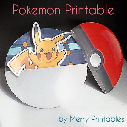 photo relating to Printable Pokeball called merryprintables: Pokemon Printable