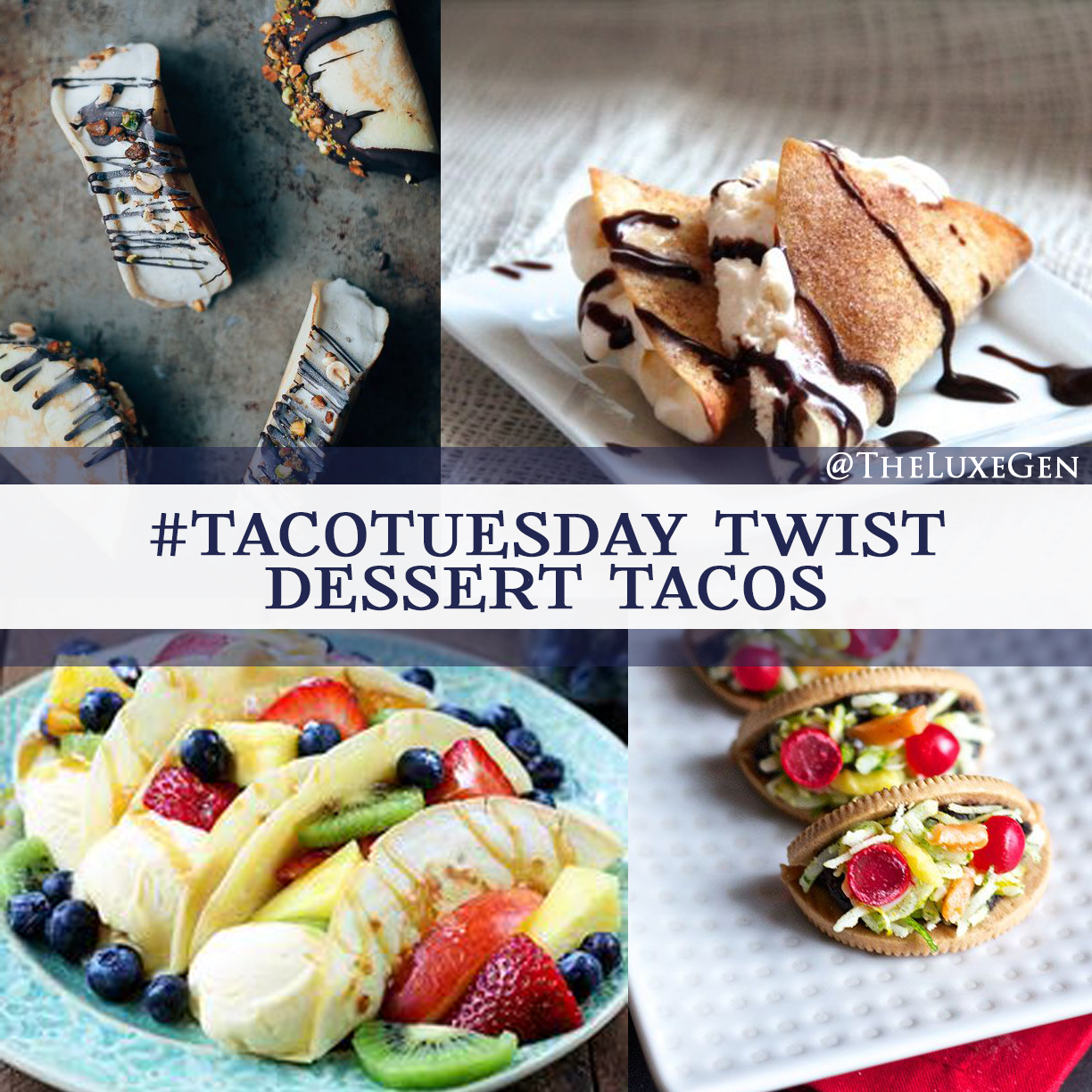 taco tuesday, recipes, dessert tacos, national taco day