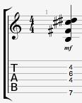 Badd9 guitar chord