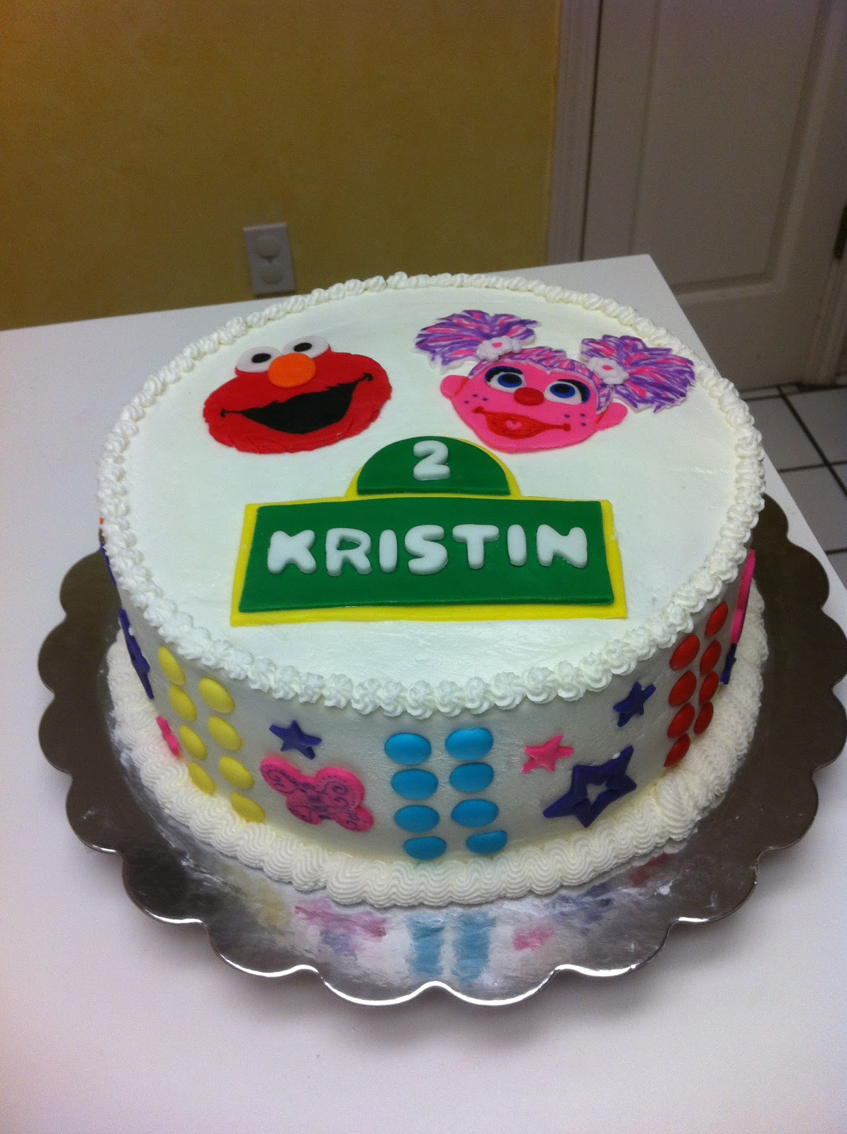 Gingerly Created Confections Abby Cadabby And Elmo Birthday Cake
