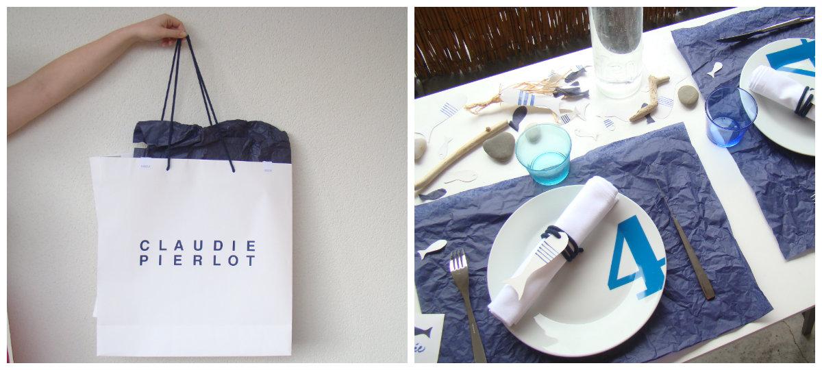 d fi diy cr er une d co de table partir d 39 un sac de shopping autour de cia. Black Bedroom Furniture Sets. Home Design Ideas