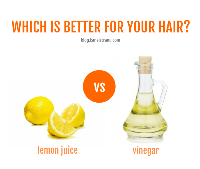 Which is better for your hair- lemon juice or vinegar based on pH
