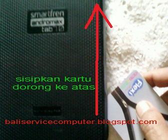 cara-cara membuka case tablet (contoh menggunakan andromax smartfren