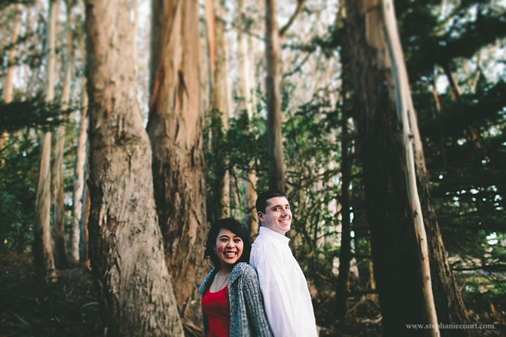 """engagement photos at the Presidio"""