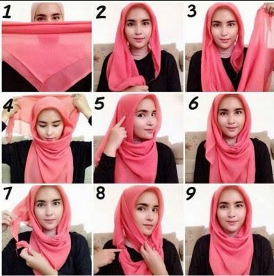 hijab jilbab Wajah Bulat