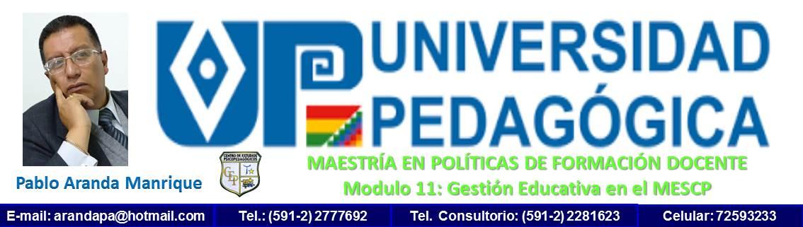 UP MAESTRÍA EN POLÍTICAS DE FORMACIÓN DOCENTE modulo 11