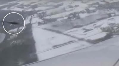 OVNI casi se estrella contra un avión de pasajeros en pleno vuelo