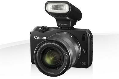 Canon EOS-M w/ EF-M 18-55mm STM & Speedlite 90EX