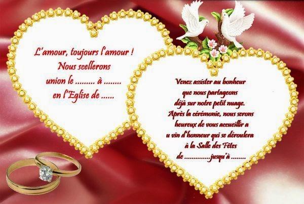 Carte invitation mariage gratuit en ligne