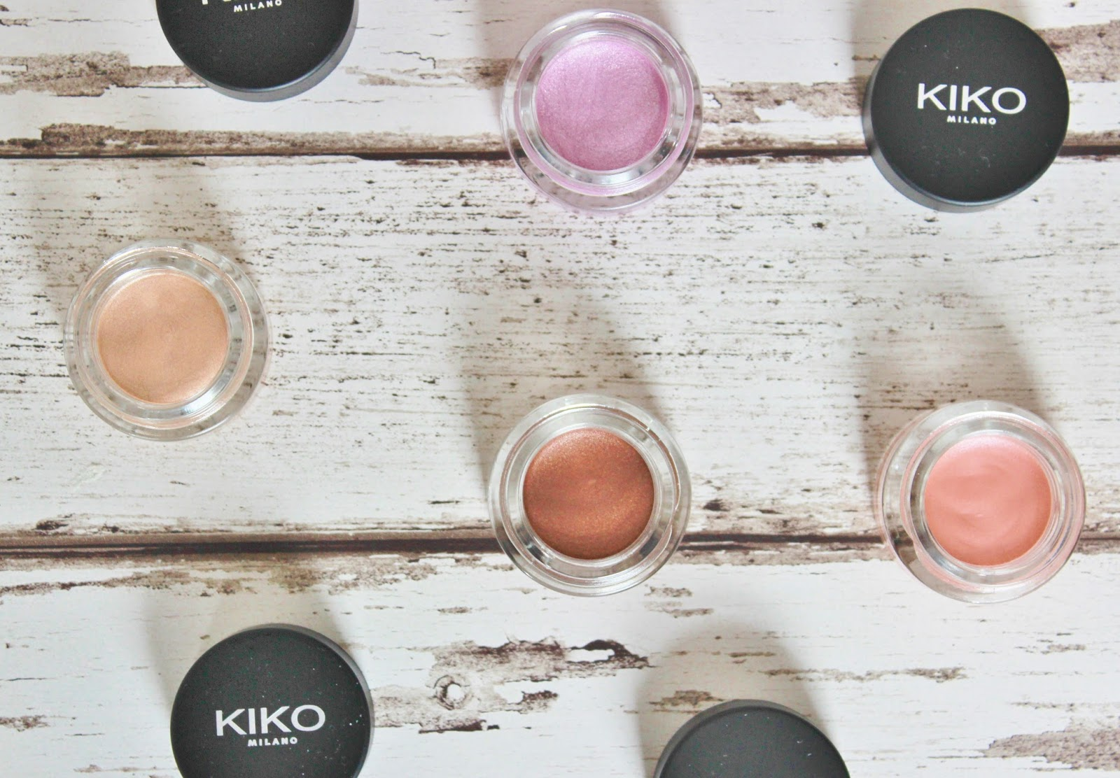 Kiko Cream crush lasting colour eye shadows