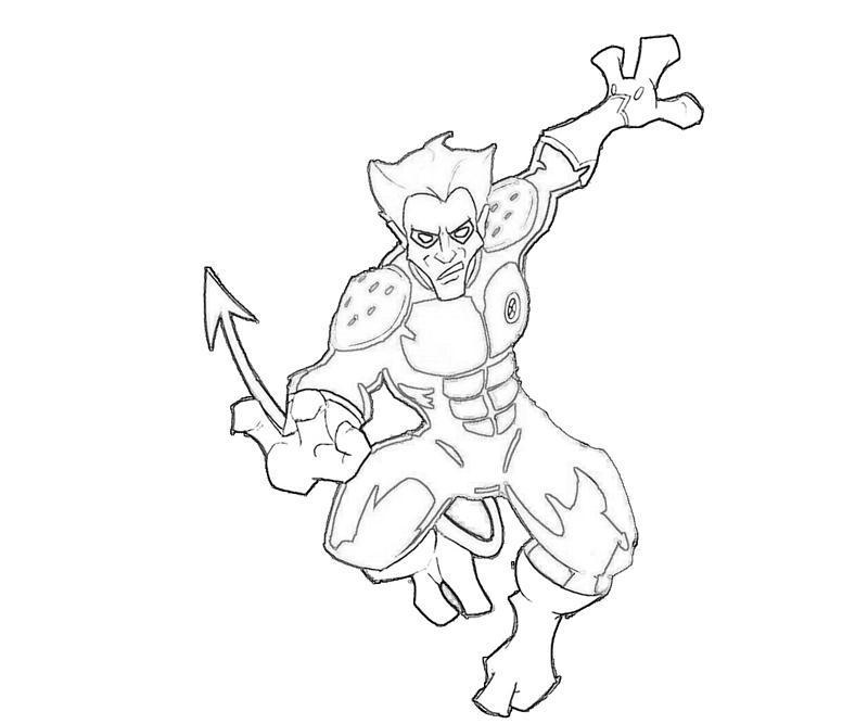 Nightcrawler Cartoon Supertweet Nightcrawler Coloring Pages