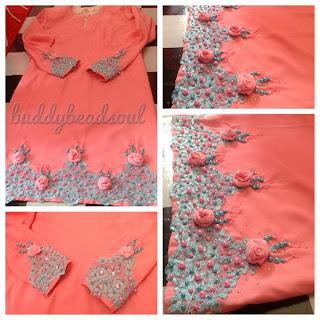 baju tunang peach cantik buddybeadsoul