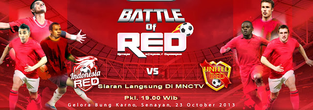 Harga Tiket Pertandingan Resmi Indonesia Red VS Manchester United Red 23 Oktober 2013