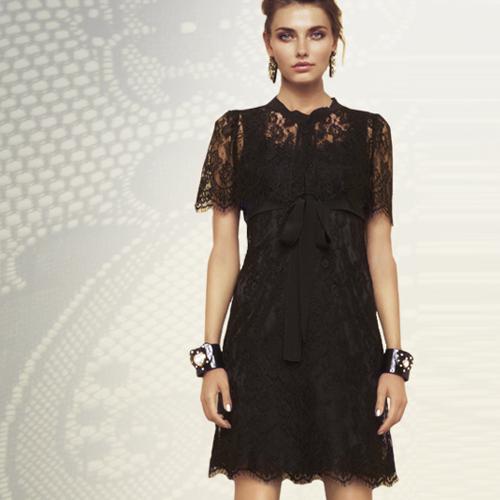 Fekete csipke női nyári ruha - Dolce & Gabbana divat 2012