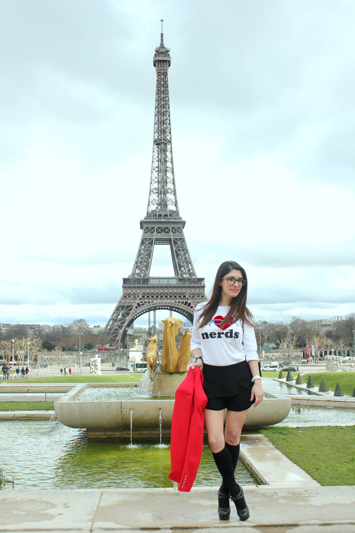 diana dazzling, fashion blogger, fashion blog,  cmgvb, como me gusta vivir bien, dazzling, luxury, Firmoo, nerd, glasses, nerd chic, i love nerds, paris, Eiffel tower, tour Eiffel, cite chaillot