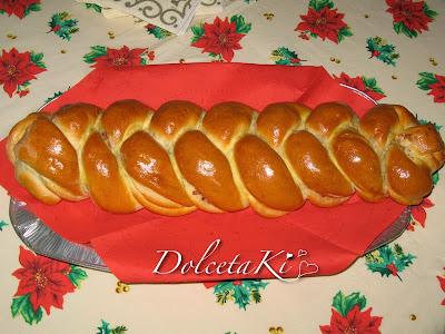 Treccia di pane ripiena