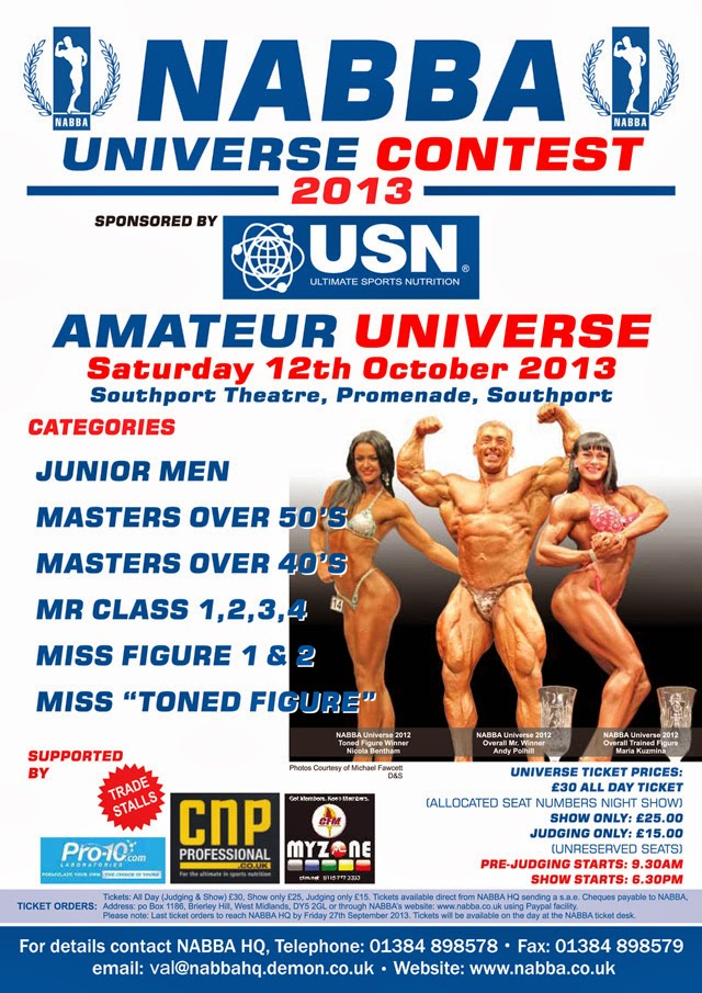 Pôster do NABBA Universe 2013