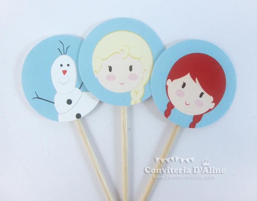 toppers personalizados frozen princesa anna elsa