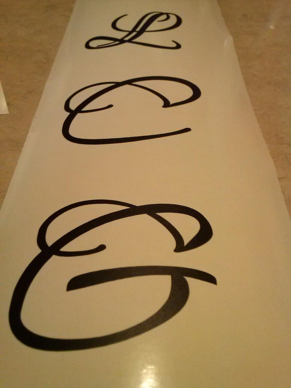 DIY wine glass kit monogram G
