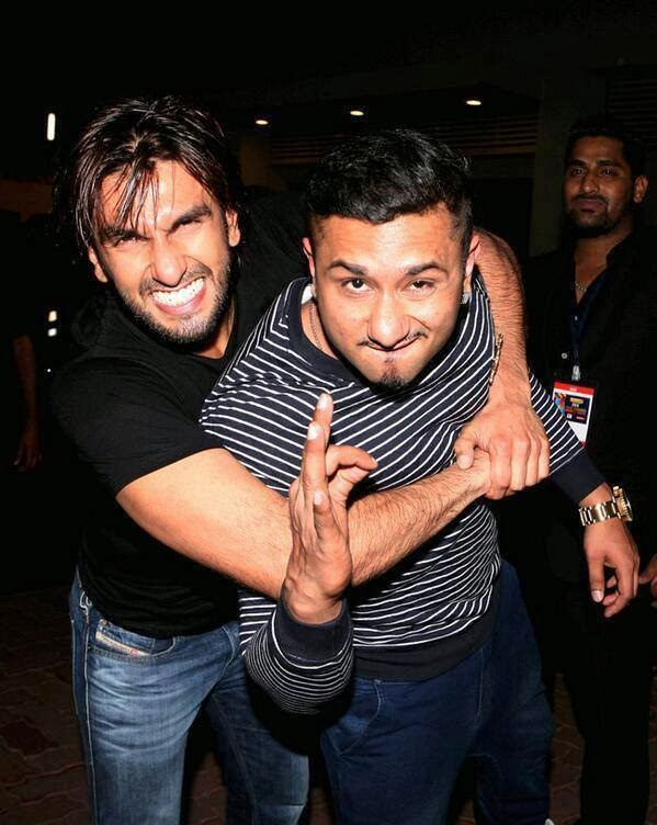 Yo! Yo! Honey singh With Ranveer Singh At Zee Cine Awards 2014