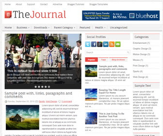 TheJournal blogger template