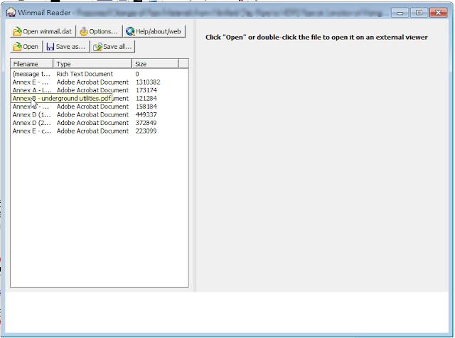 Winmail Reader 開啟檔案後的截圖
