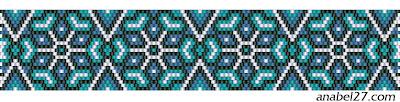 схема браслета их бисера мозаика пдетение кирпичное brick peyote pattern