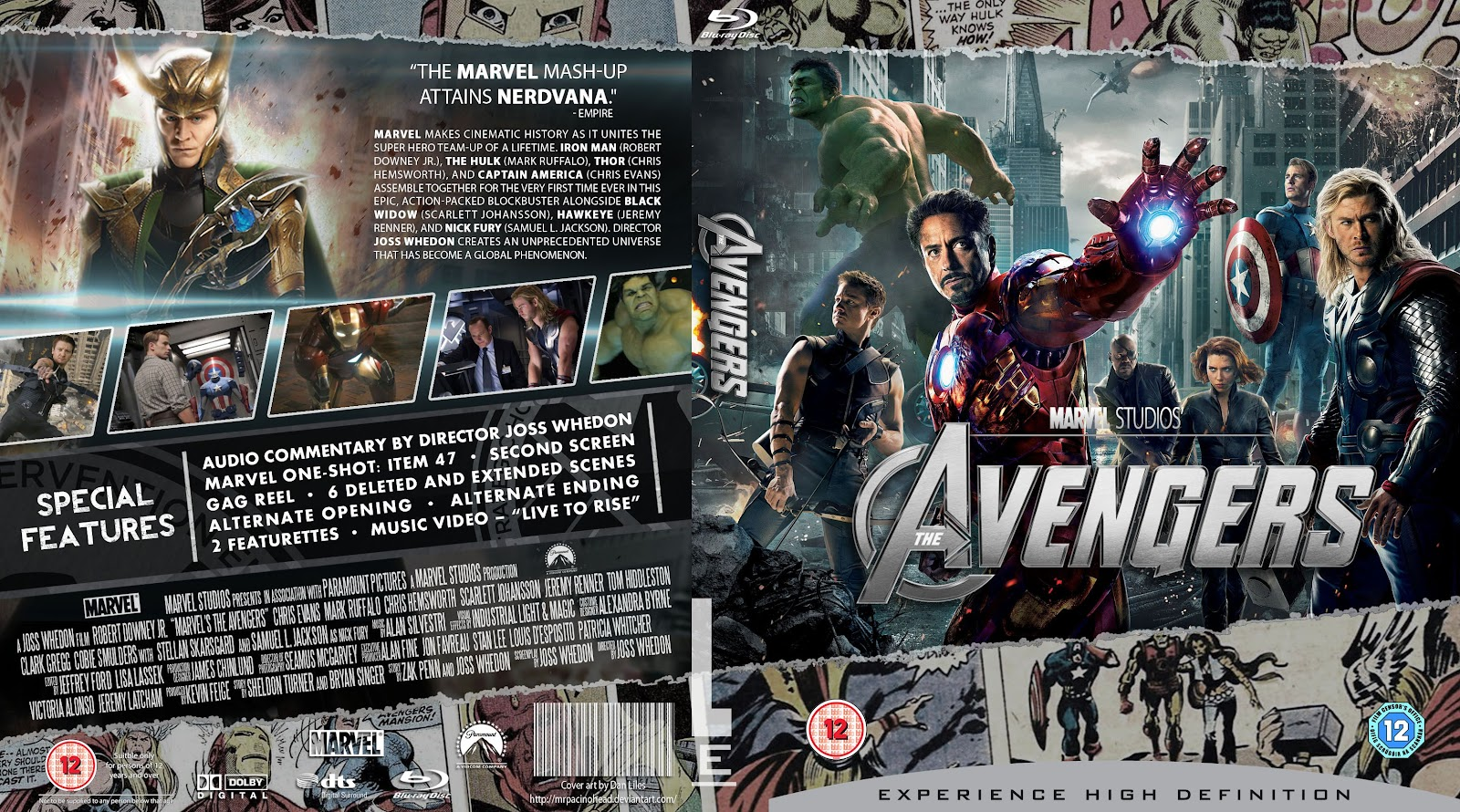 Capa Bluray Avengers