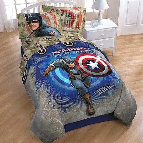 Bedroom decor ideas and designs captain america themed for American themed bedroom ideas