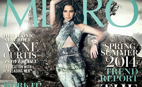 Anne Curtis mimics Dyesebel in Metro's March 2014 cover