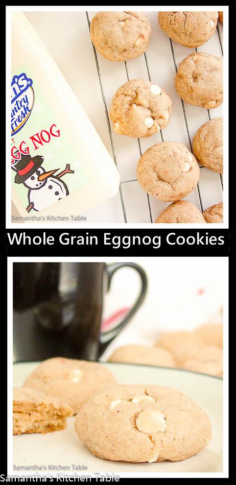 Whole Grain Eggnog Cookies
