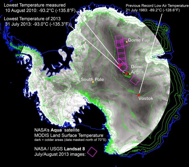 Maapallon uusi kaikkien aikojen kylmyysennätys, -93,2 astetta?