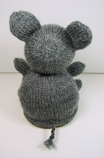 hand knit toy reversible lion elephant