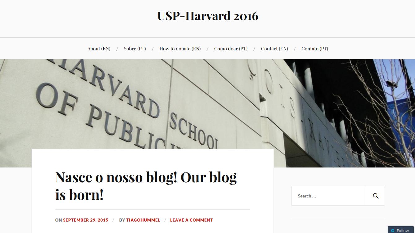 Blog USP-Harvarders 2016